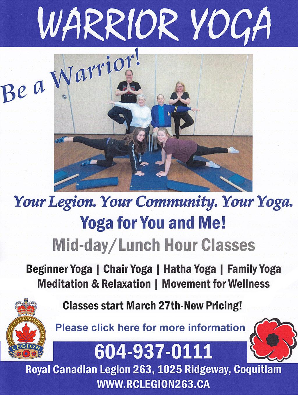 warrior yoga poster