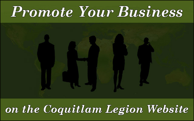 Promote your business on the Coquitlam Legion website