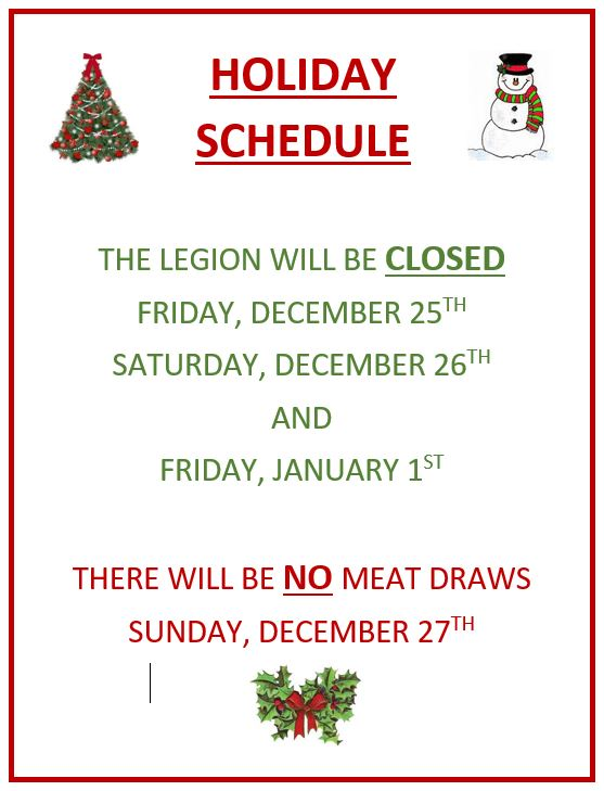 RCL-263-Holiday-Schedule
