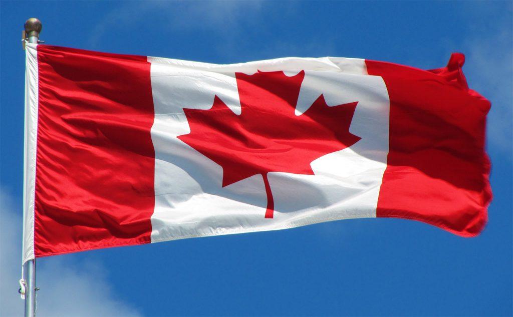 Canada flag on a flag-pole